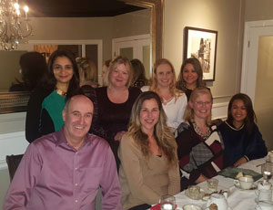 2017 Dr. Barzilay and team holiday dinner